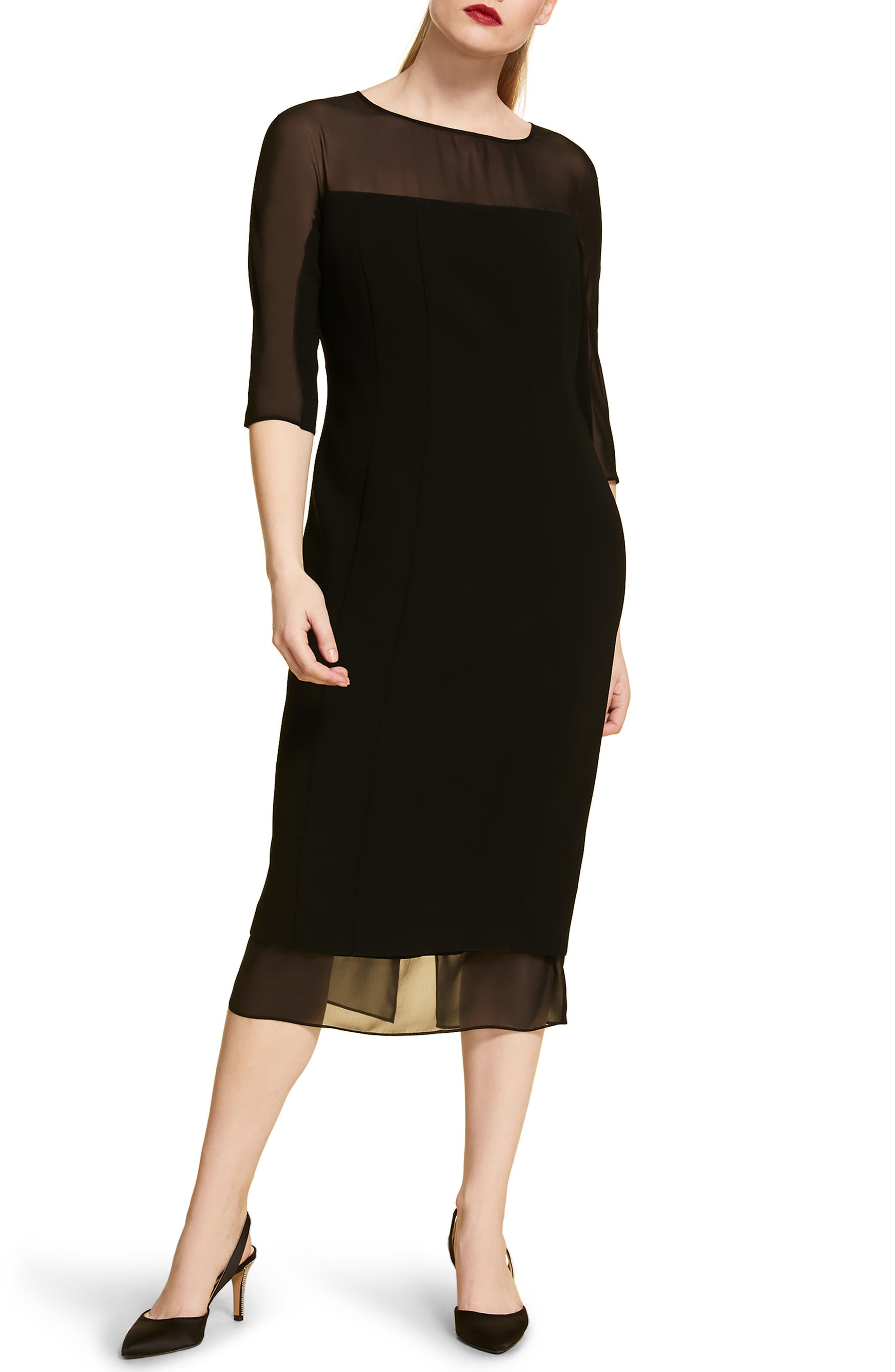 Plus Size Marina Rinaldi Davanti Midi Dress, Black