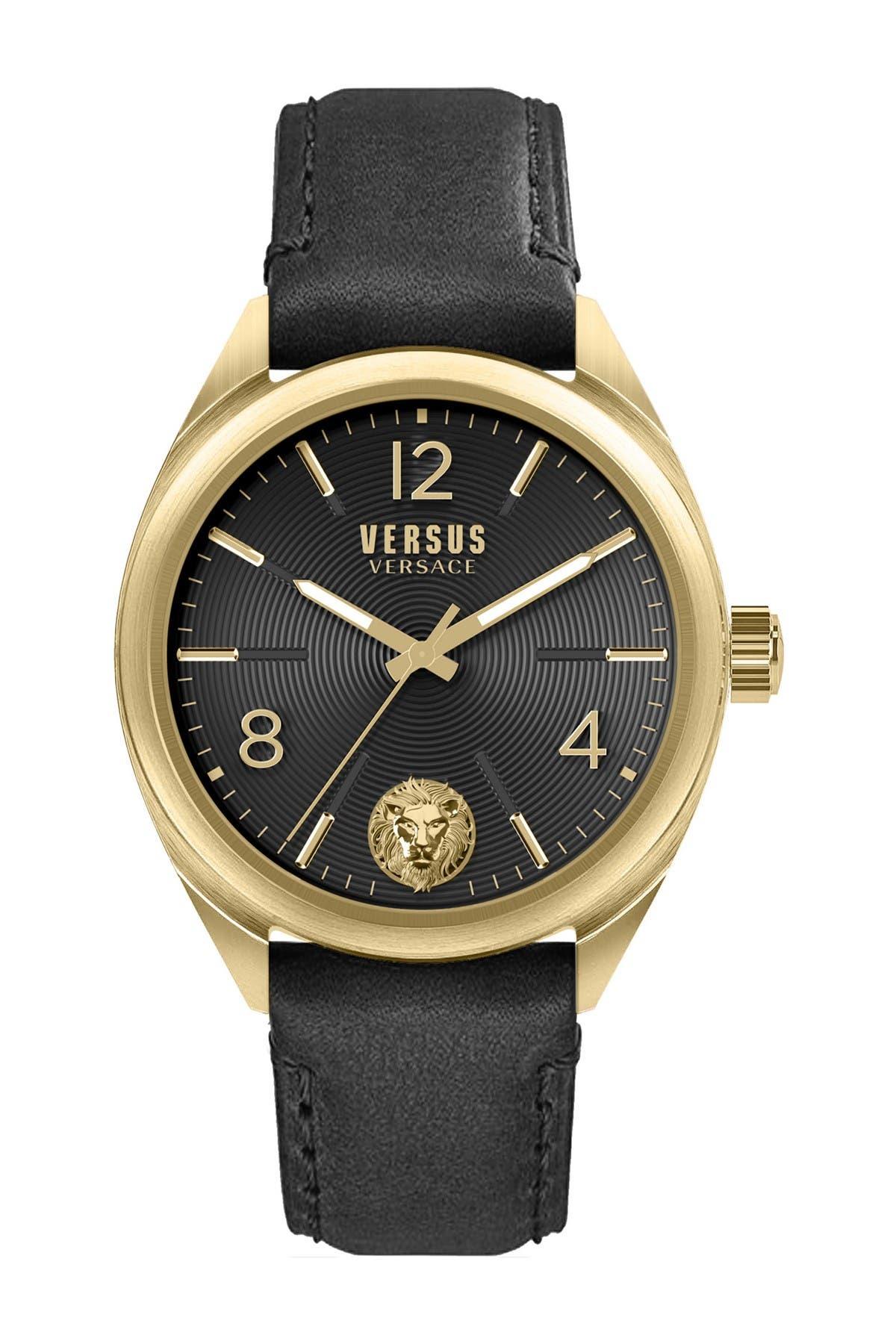 Image of VERSUS Men's Lexington Quartz Leather Strap Watch, 44mm