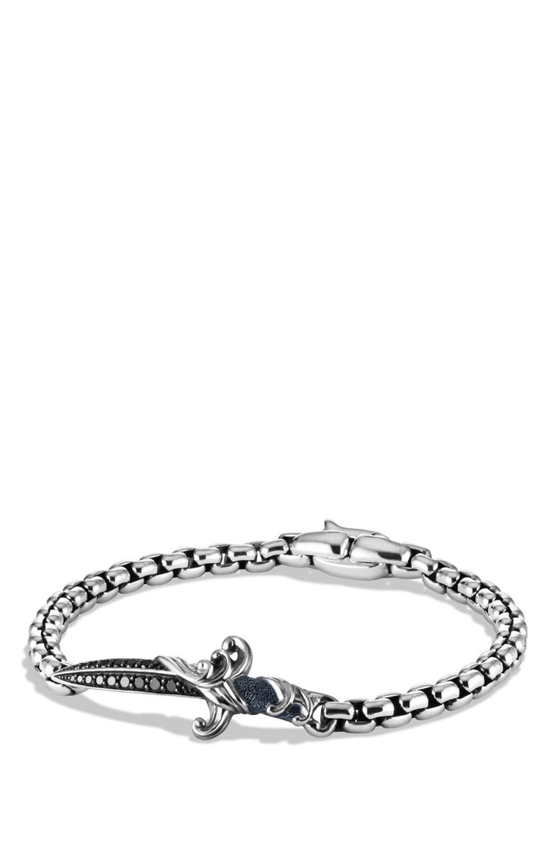 David Yurman Waves Dagger Bracelet With Black Diamonds