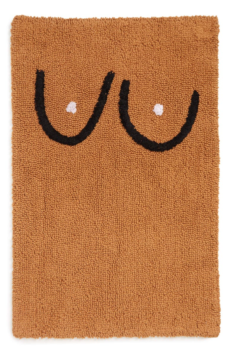 COLD PICNIC Boob Bathmat, Main, color, BROWN