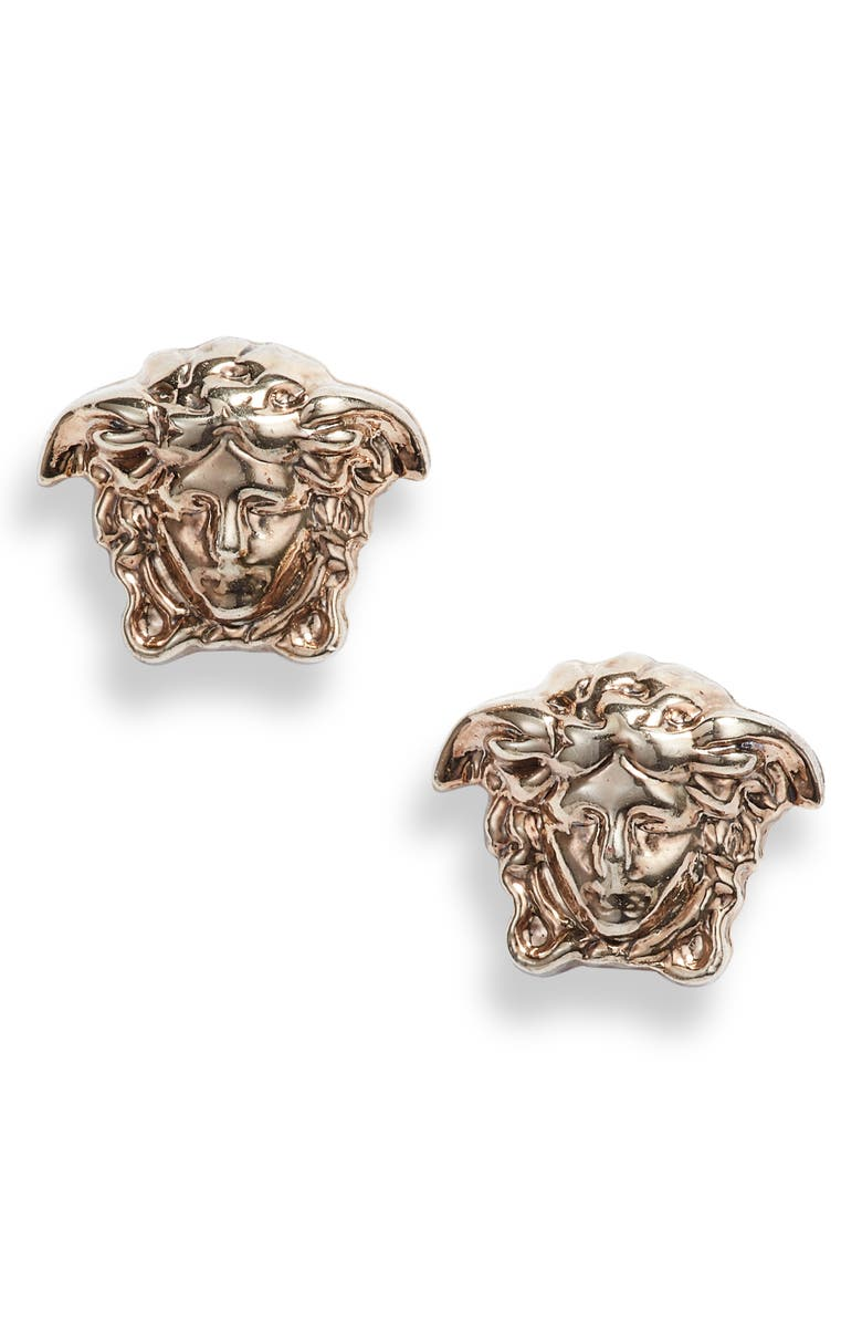 VERSACE Medusa Stud Earrings, Main, color, 710