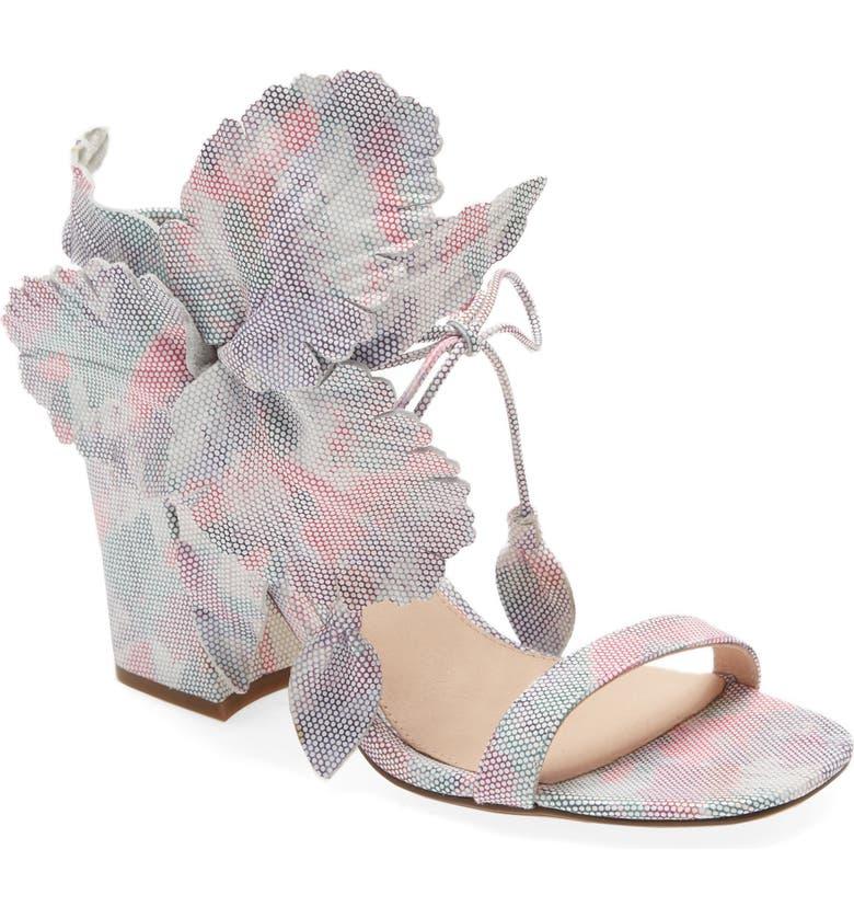CECELIA NEW YORK Hibiscus Sandal, Main, color, TIE DYE LEATHER