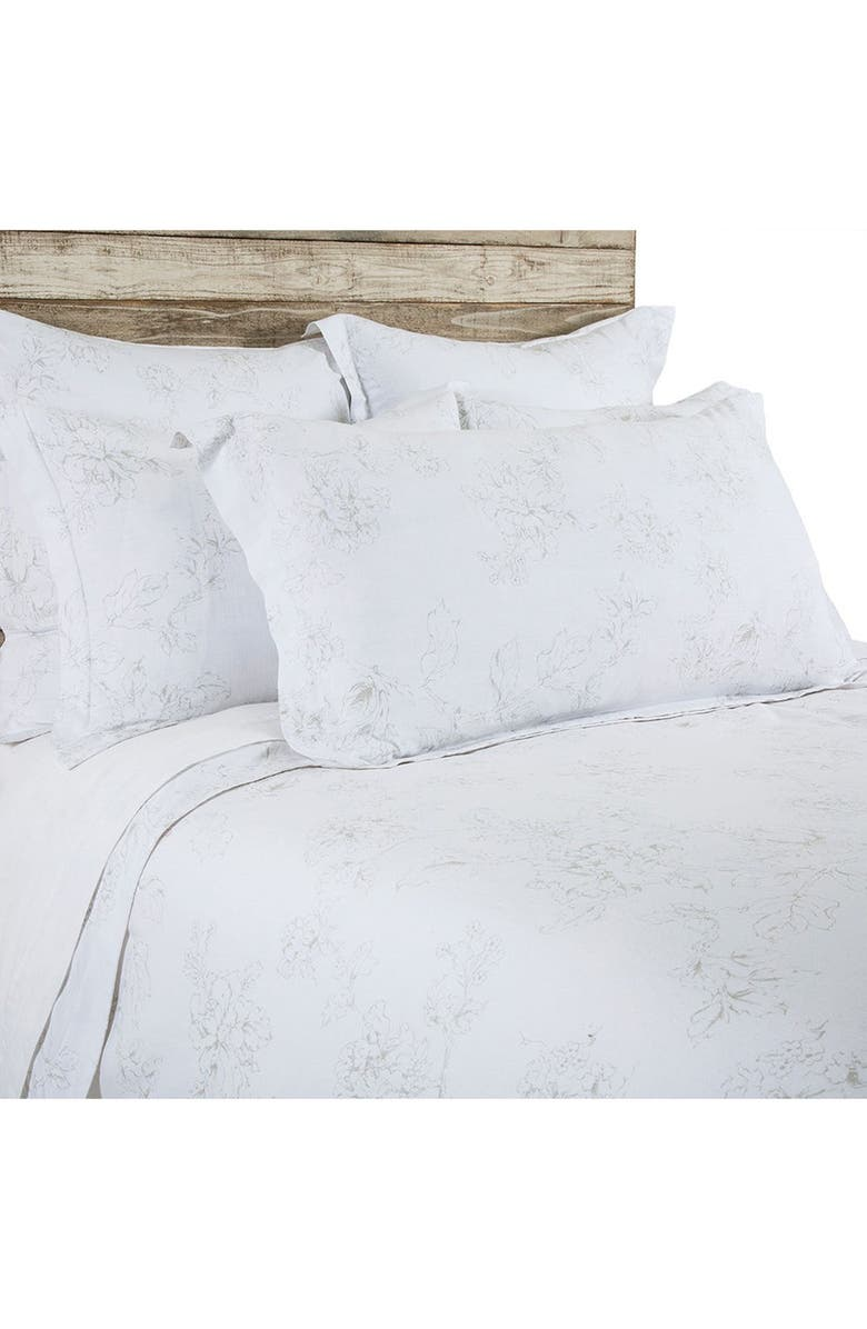POM POM AT HOME Lana Duvet Cover, Main, color, WHITE/ TAUPE