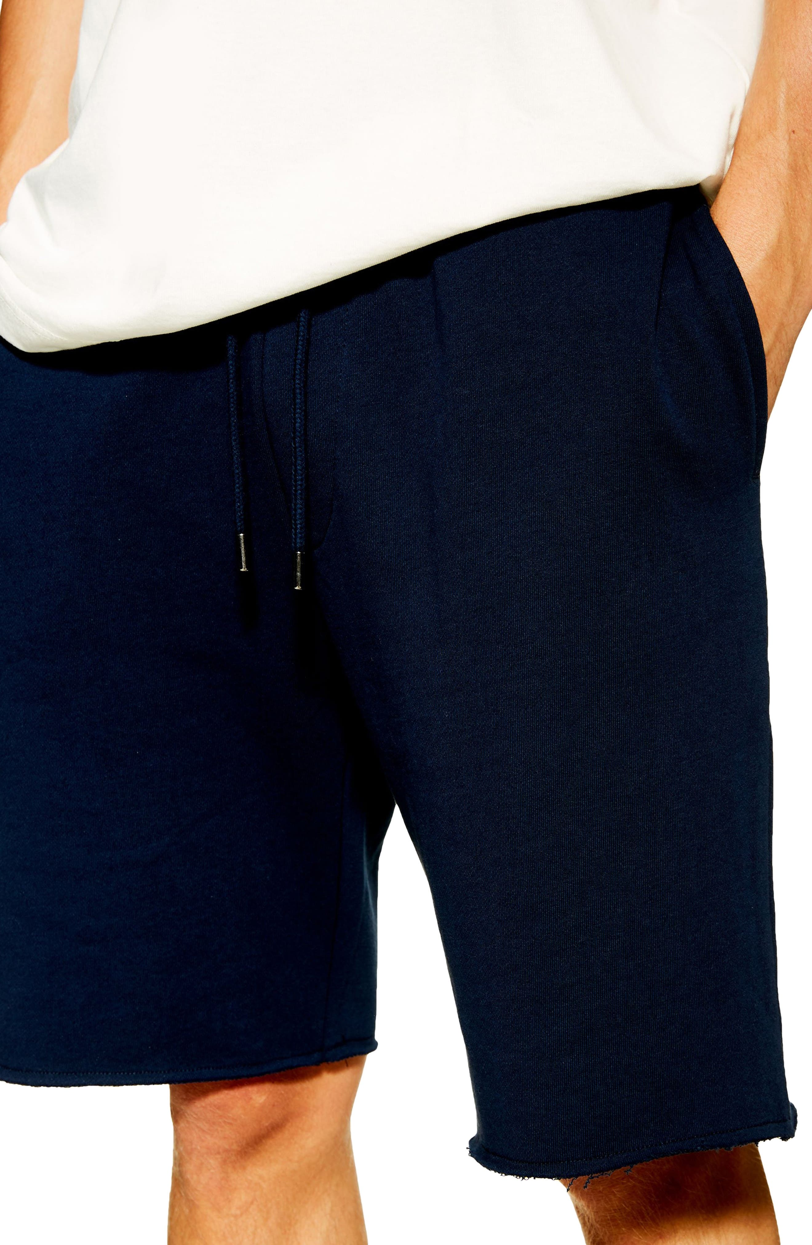 ,                             Jersey Sweat Shorts,                             Alternate thumbnail 3, color,                             NAVY BLUE