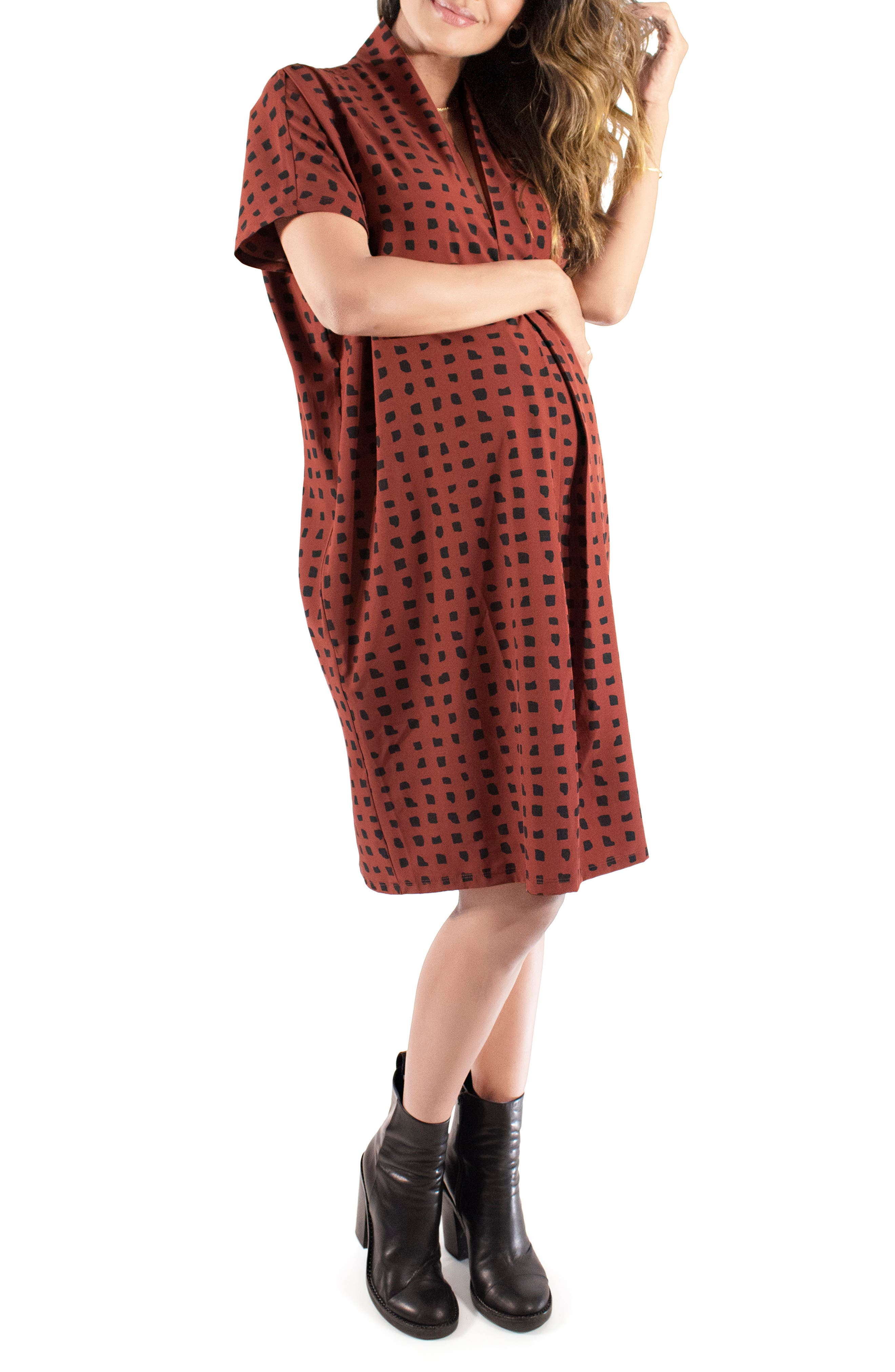 Women's Ingrid & Isabel Everywhere Abstract Print Maternity Tunic Dress