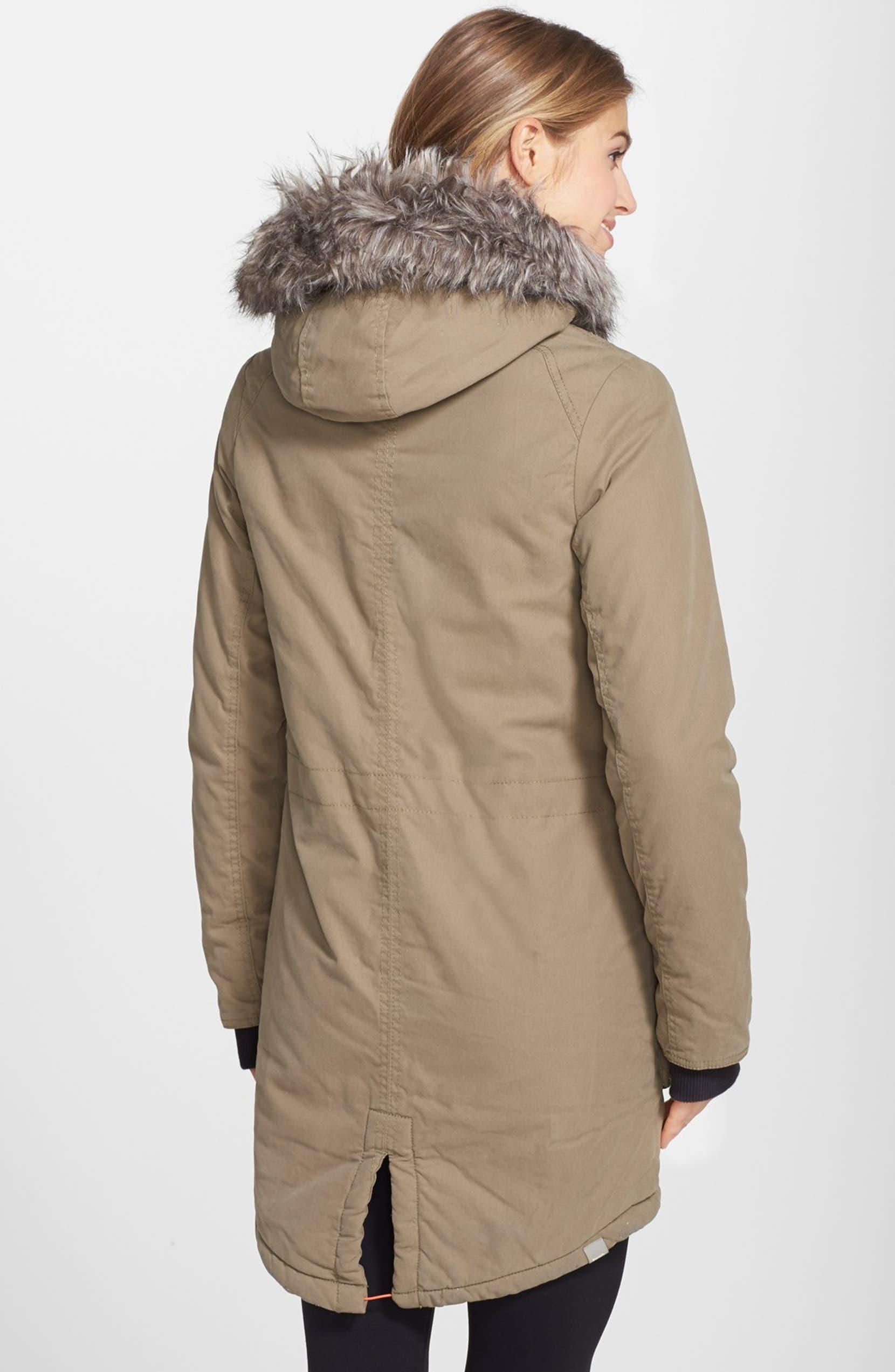 Bench 'Wolfish II' Faux Fur Trim Coat | Faux fur, Coat, Fur trim