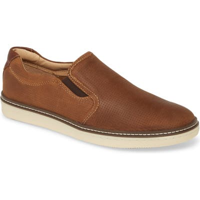Johnston & Murphy Mcguffy Slip-On Sneaker, Brown