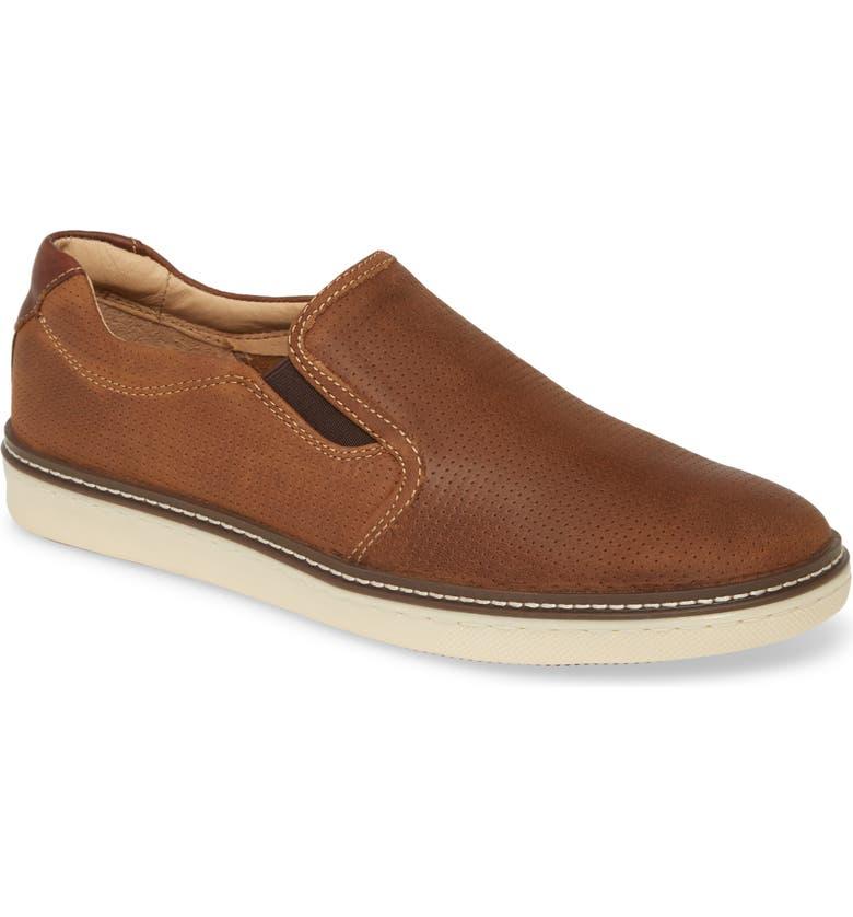 JOHNSTON & MURPHY McGuffy Slip-On Sneaker, Main, color, TAN OILED