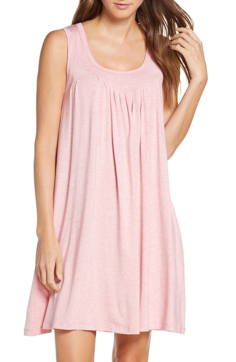 PAPINELLE Pleated Chemise, Main, color, DUSTY PINK
