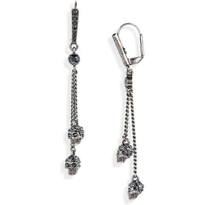 Alexander Mcqueen Double Skull Drop Earrings