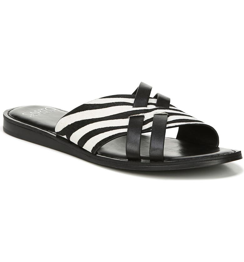 FRANCO SARTO Logan Slide Sandal, Main, color, 001