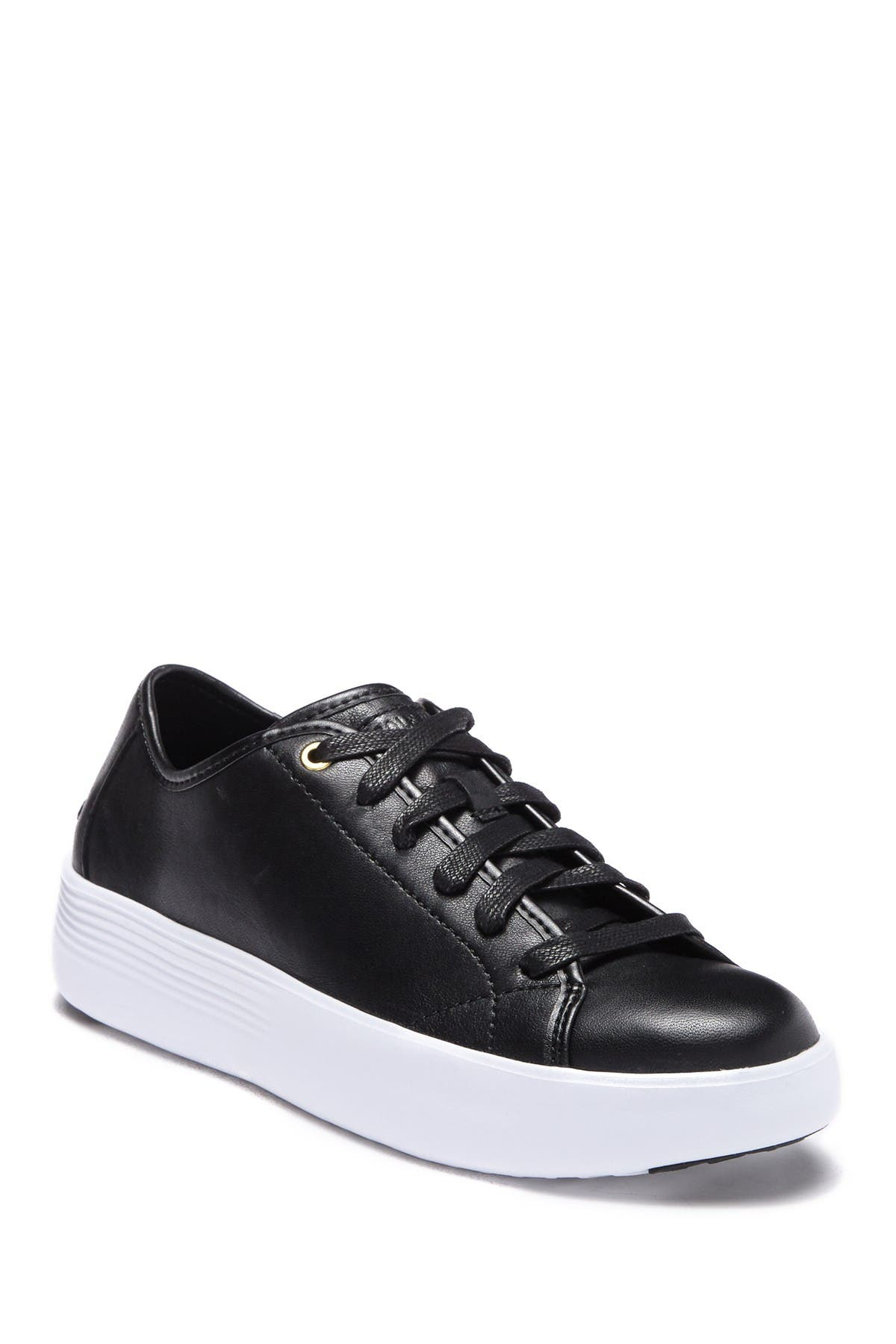 Grand Court Leather Platform Sneaker