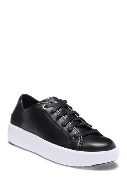 Image of Cole Haan Grand Court Leather Platform Sneaker