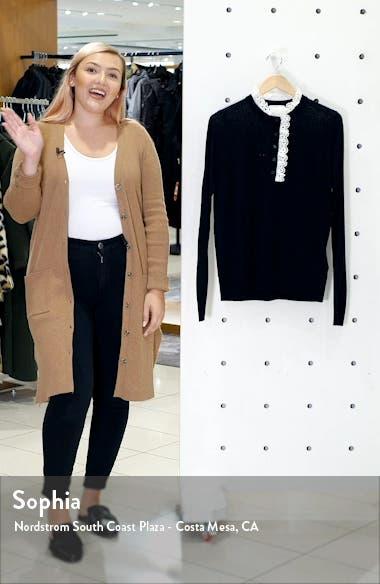 Colane Eyelet Detail Wool Blend Sweater, sales video thumbnail