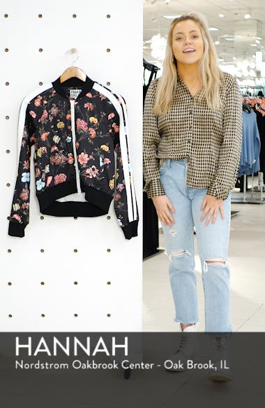 Fineline Floral Crop Track Jacket, sales video thumbnail