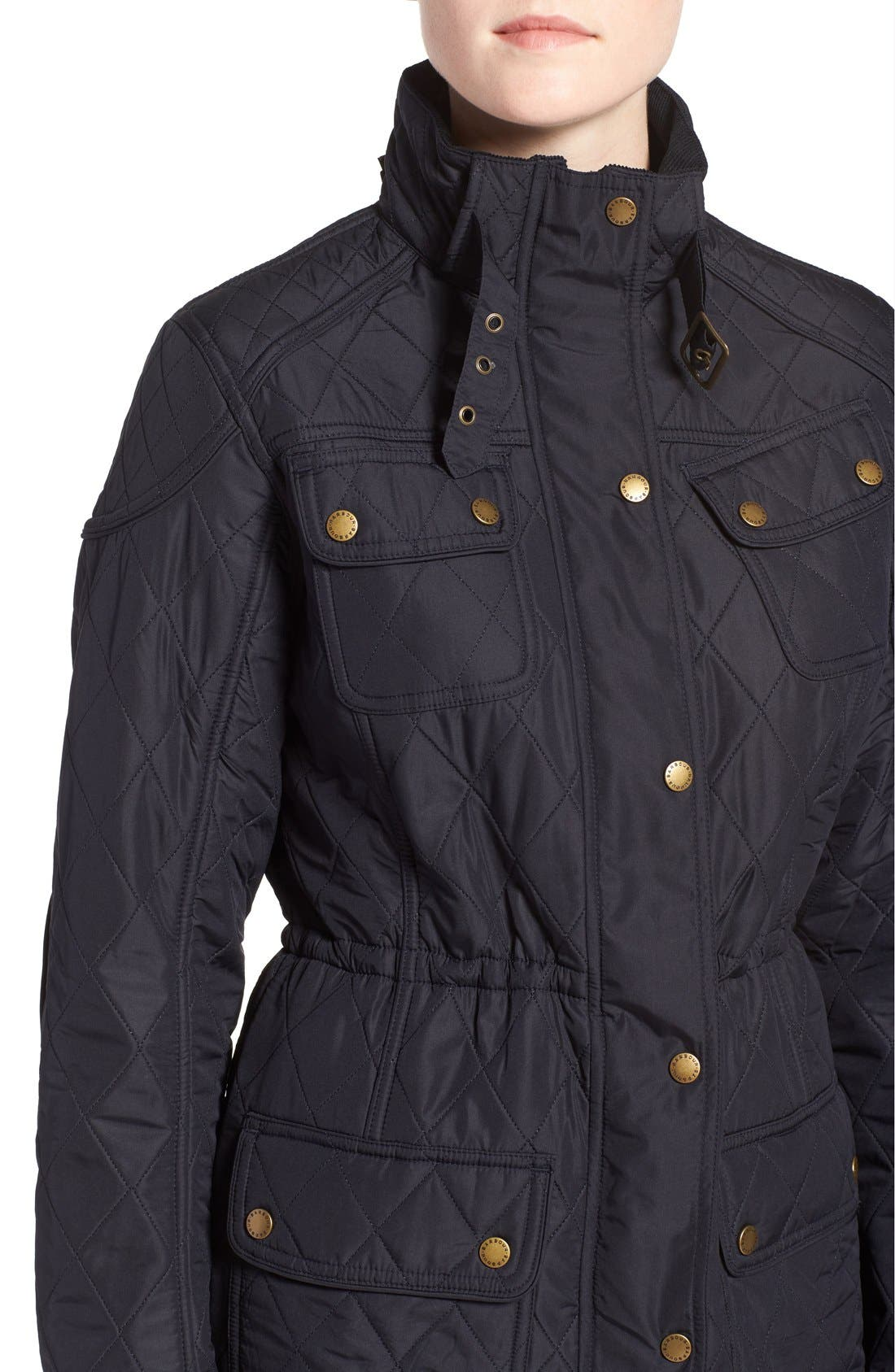 ,                             'Arrow' Quilted Anorak,                             Alternate thumbnail 18, color,                             410