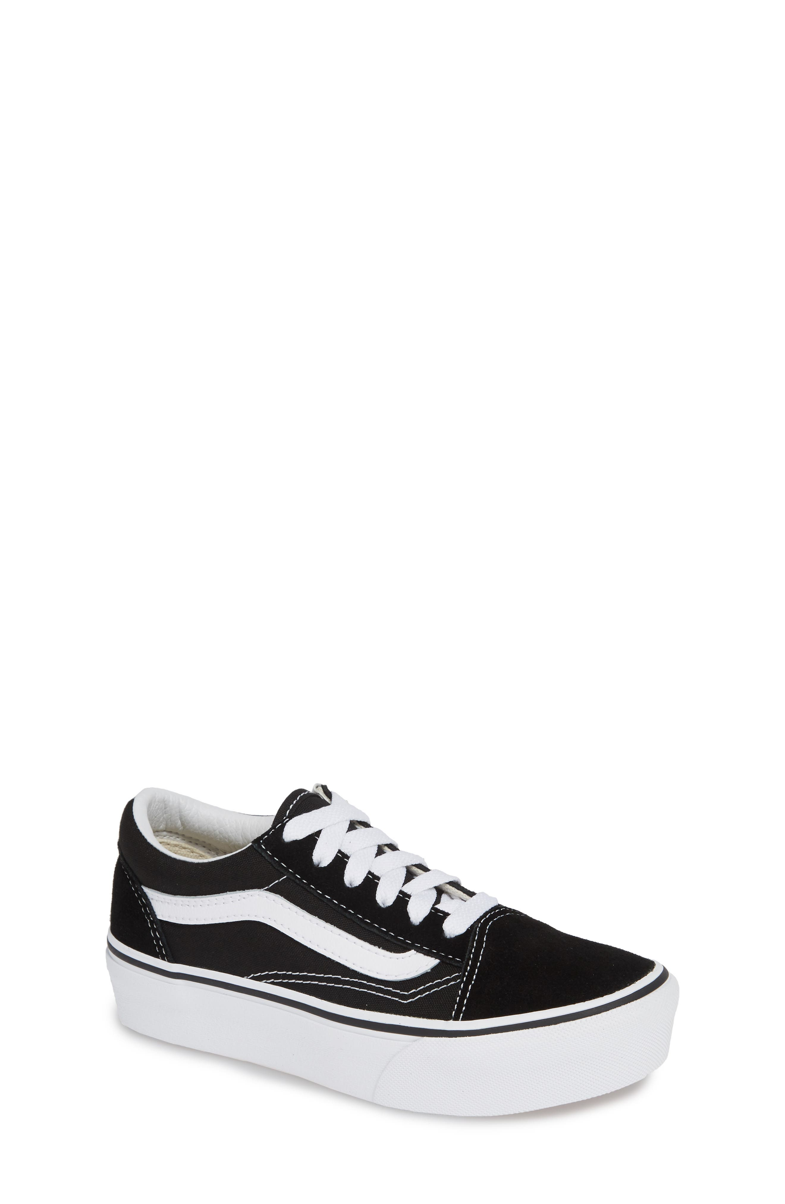 Old Skool Platform Sneaker, Main, color, BLACK/ TRUE WHITE