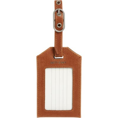 Matt & Nat Trotter Faux Leather Luggage Tag - Brown