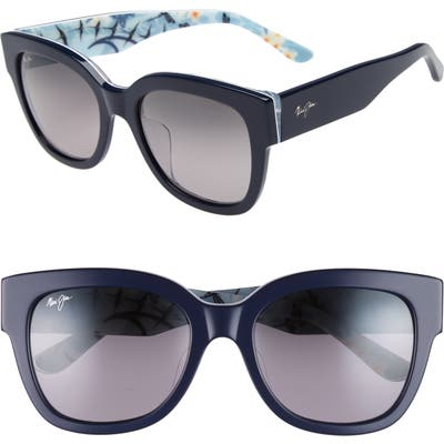 Maui Jim 5m Rhythm Polarized Sunglasses - Navy Blue/ Neutral Grey