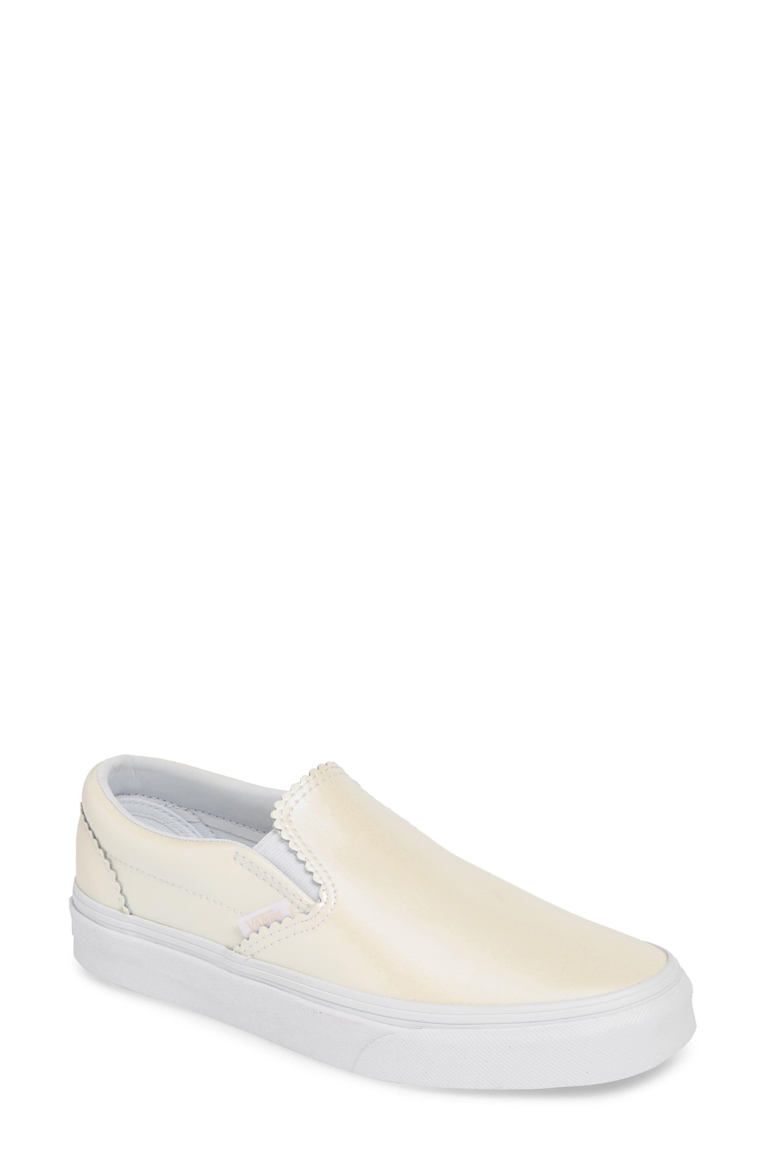 Vans Classic Pearl Slip-On Sneaker, White