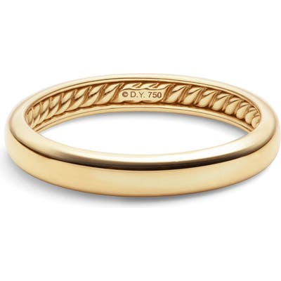 David Yurman Dy 18K Gold Classic Band Ring