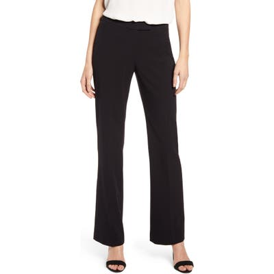 Anne Klein Stretch Flare Leg Pants, Black