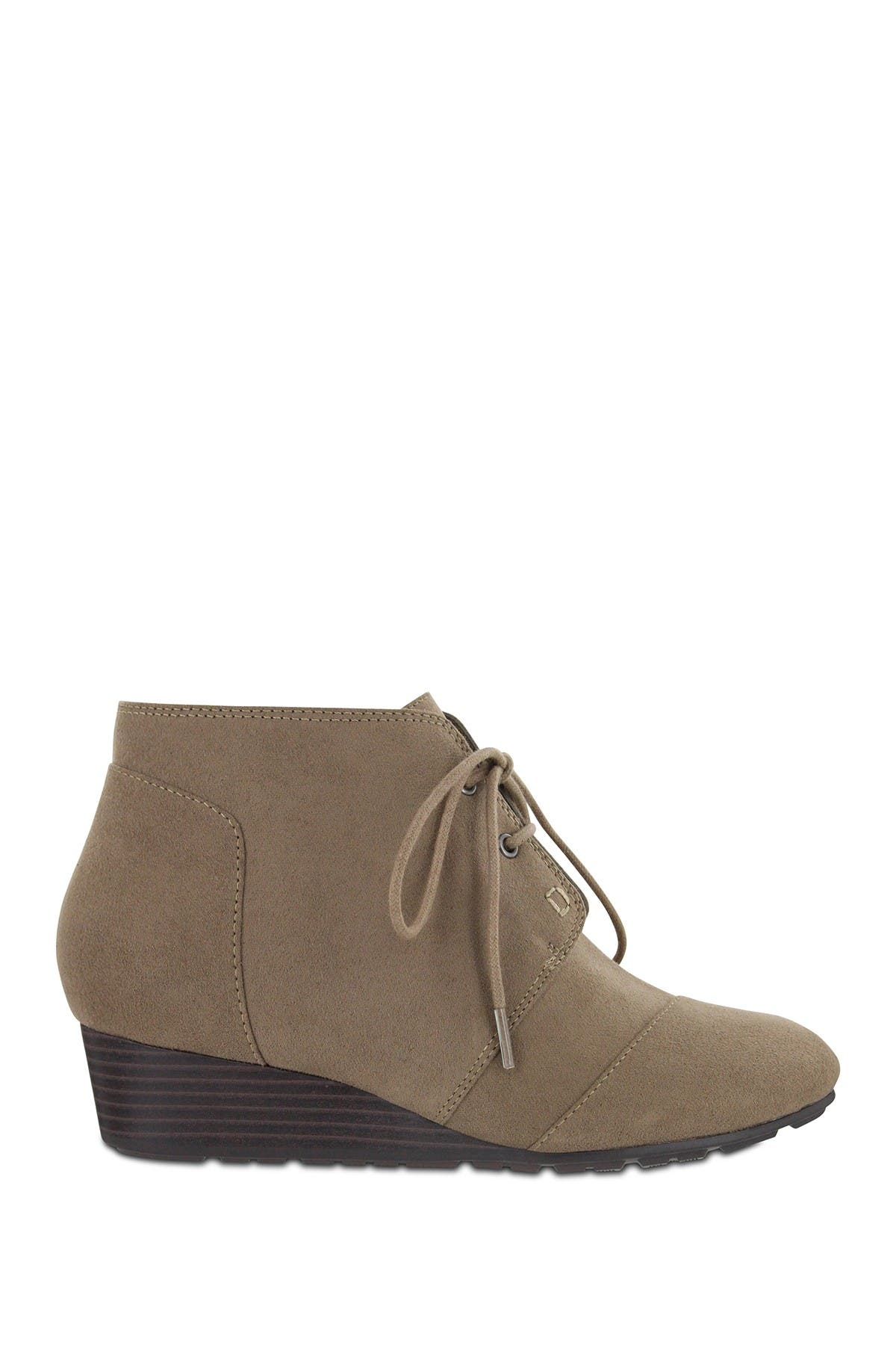 MIA AMORE | Sarah Lace-Up Wedge Bootie