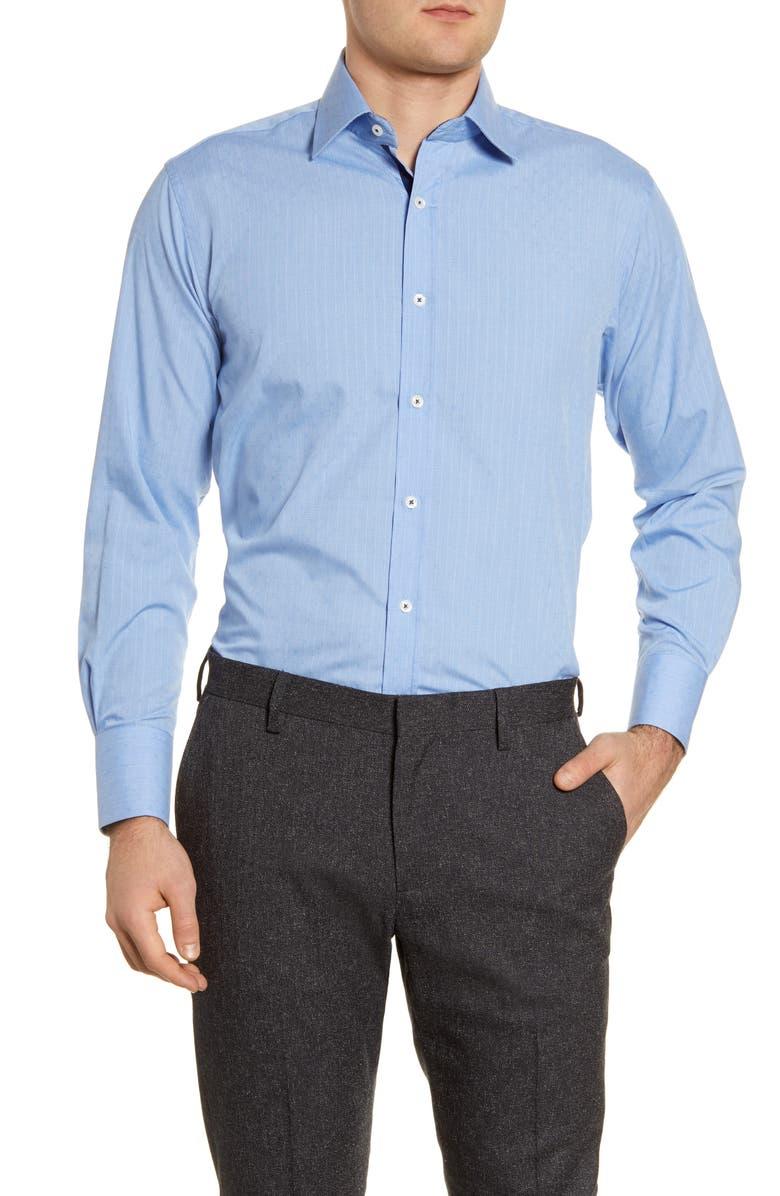 ENGLISH LAUNDRY Regular Fit Stripe Dress Shirt, Main, color, BLUE