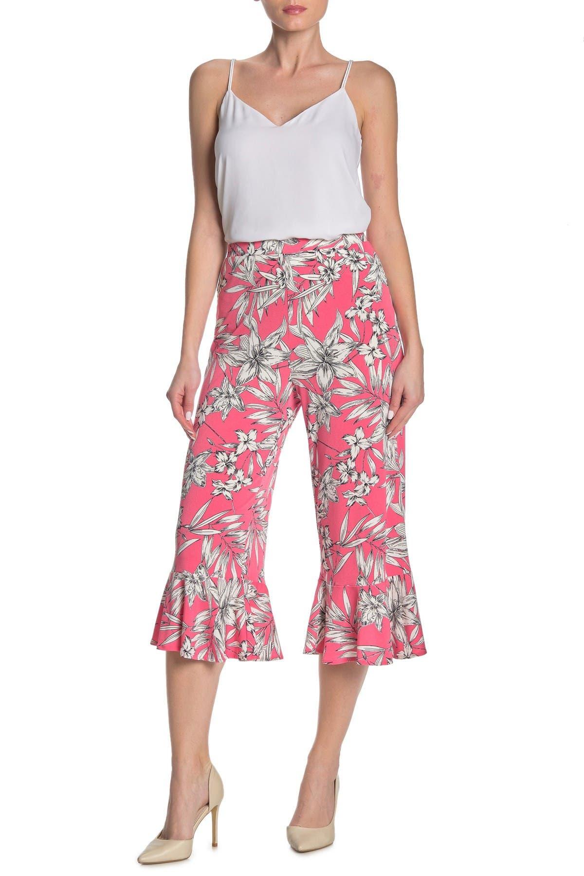 Image of ECI Floral Ruffle Cuff Pants