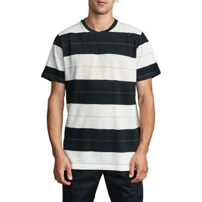 Rvca Rumble Stripe T-Shirt, Black