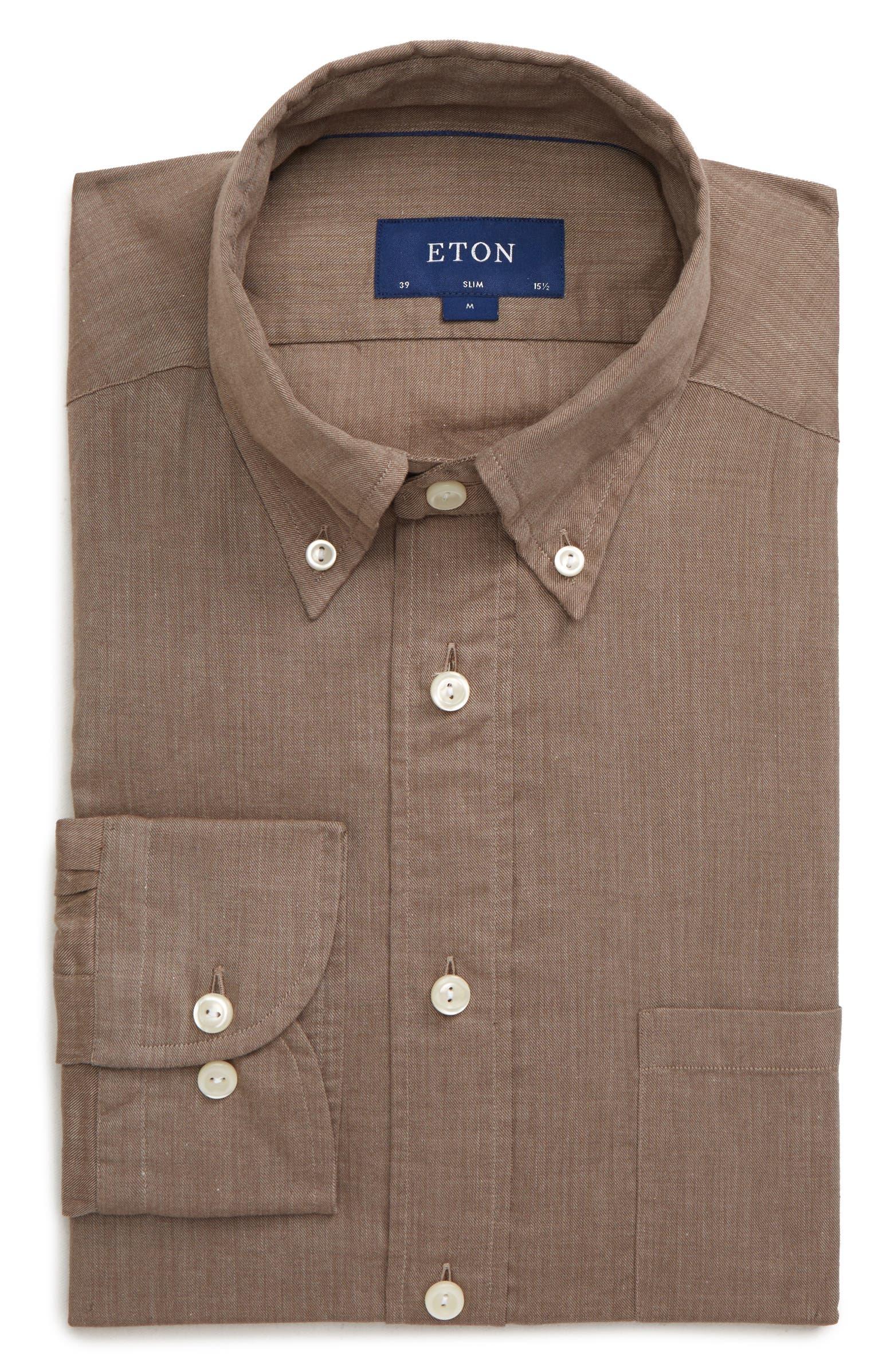 Soft Casual Line Slim Fit Flannel Shirt ETON