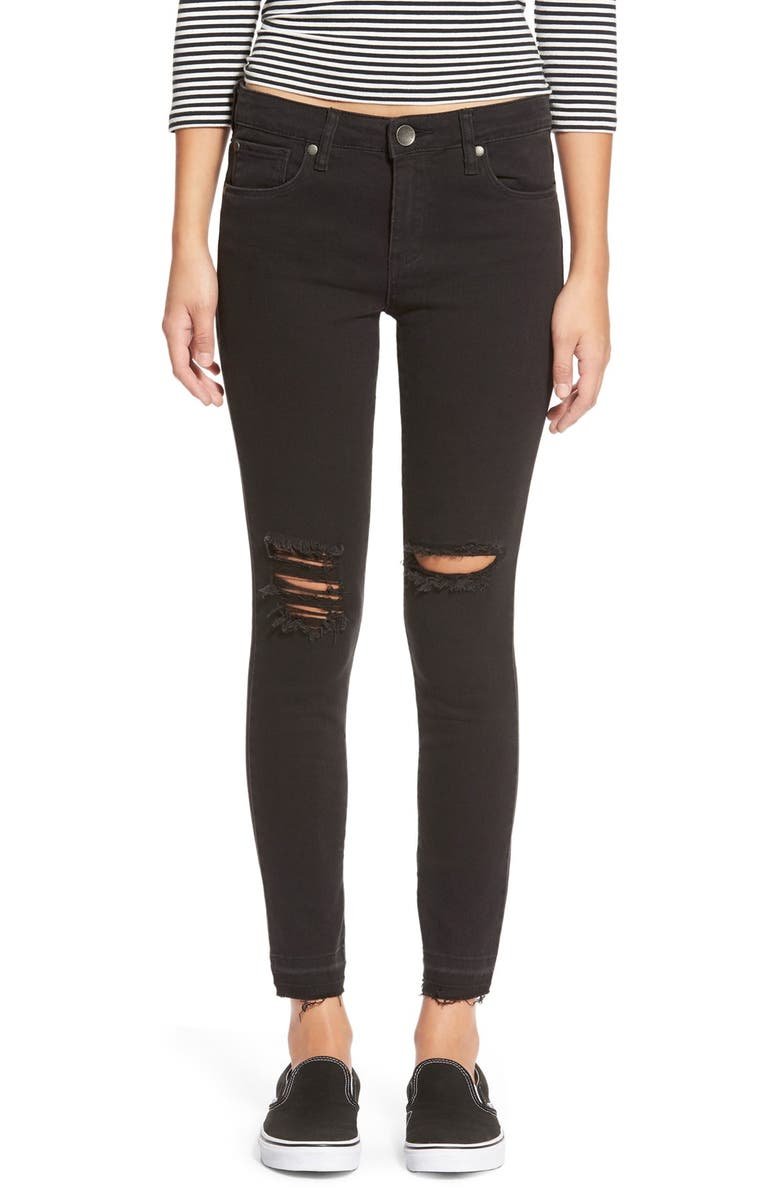 STS BLUE STSBlue 'Emma' Distressed High Rise Ankle Skinny Jeans, Main, color, 002