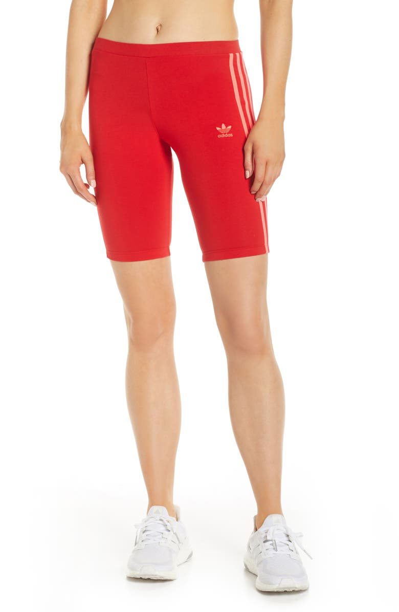 ADIDAS Cycling Shorts, Main, color, SCARLET