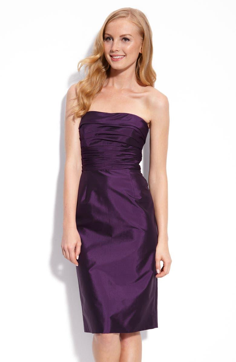MONIQUE LHUILLIER BRIDESMAIDS ML Monique Lhuillier Bridesmaids Strapless Taffeta Dress, Main, color, 500