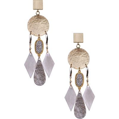 Nakamol Design Drusy Drop Earrings