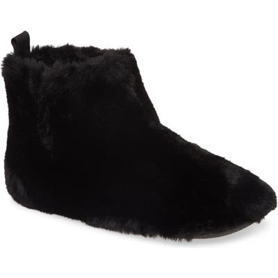 Fitflop Faux Fur Slipper Bootie, Black
