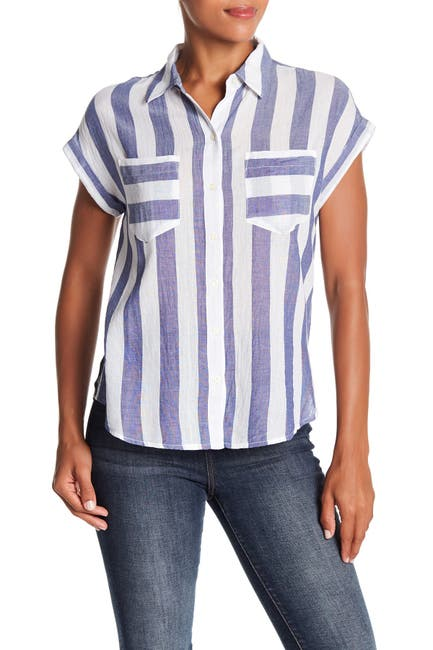 Image of Lucky Brand Striped Short Sleeve Shirt