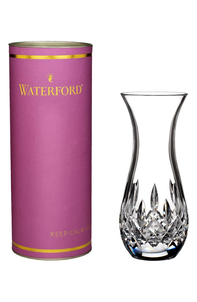 WATERFORD Giftology Lismore Sugar Lead Crystal Bud Vase, Main, color, CRYSTAL