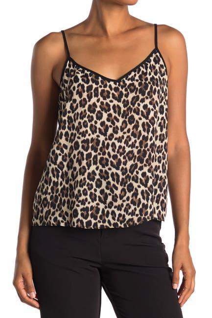 Image of Vince Camuto Leopard Print V-Neck Camisole
