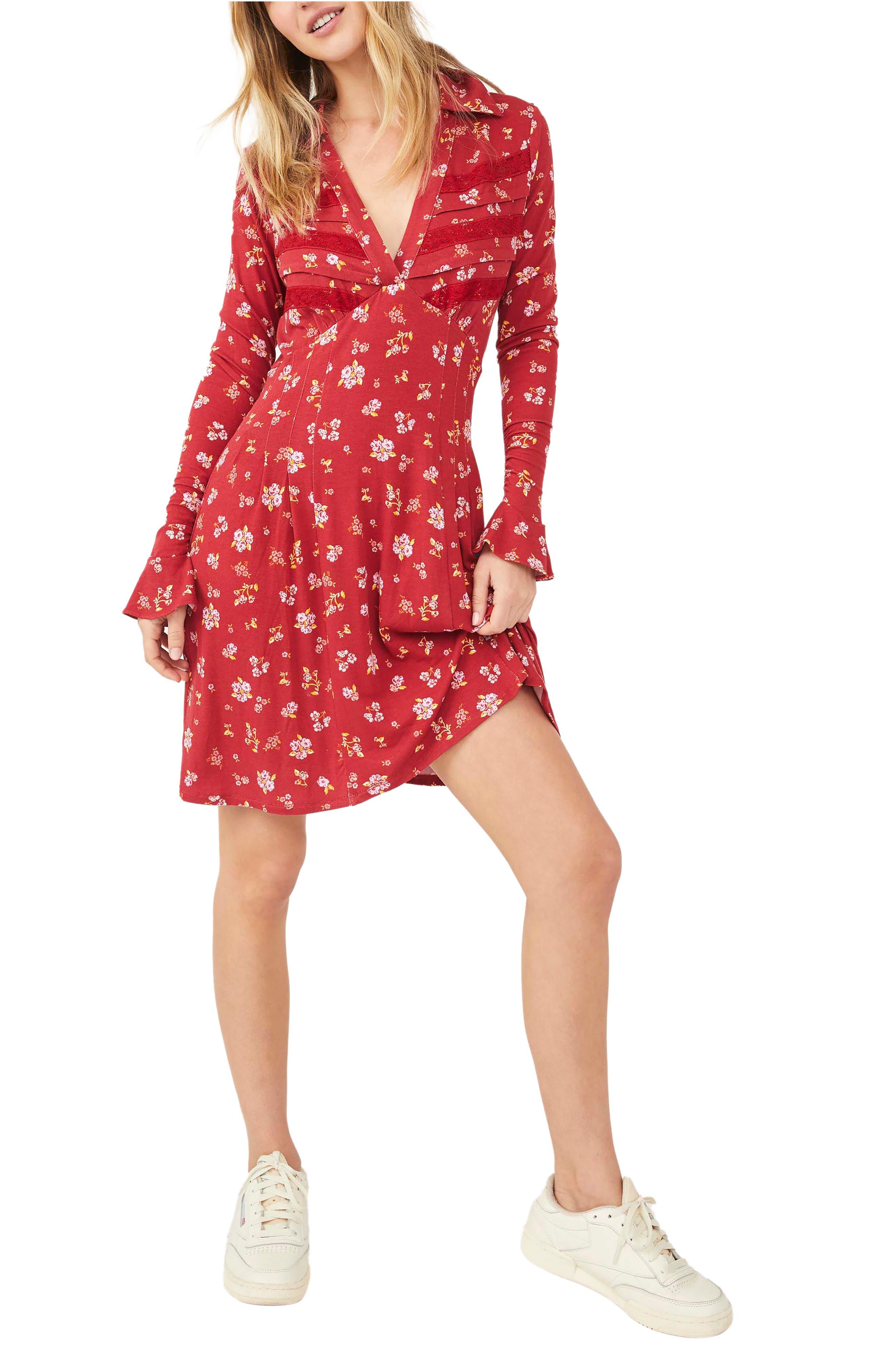 Good Days Long Sleeve Minidress