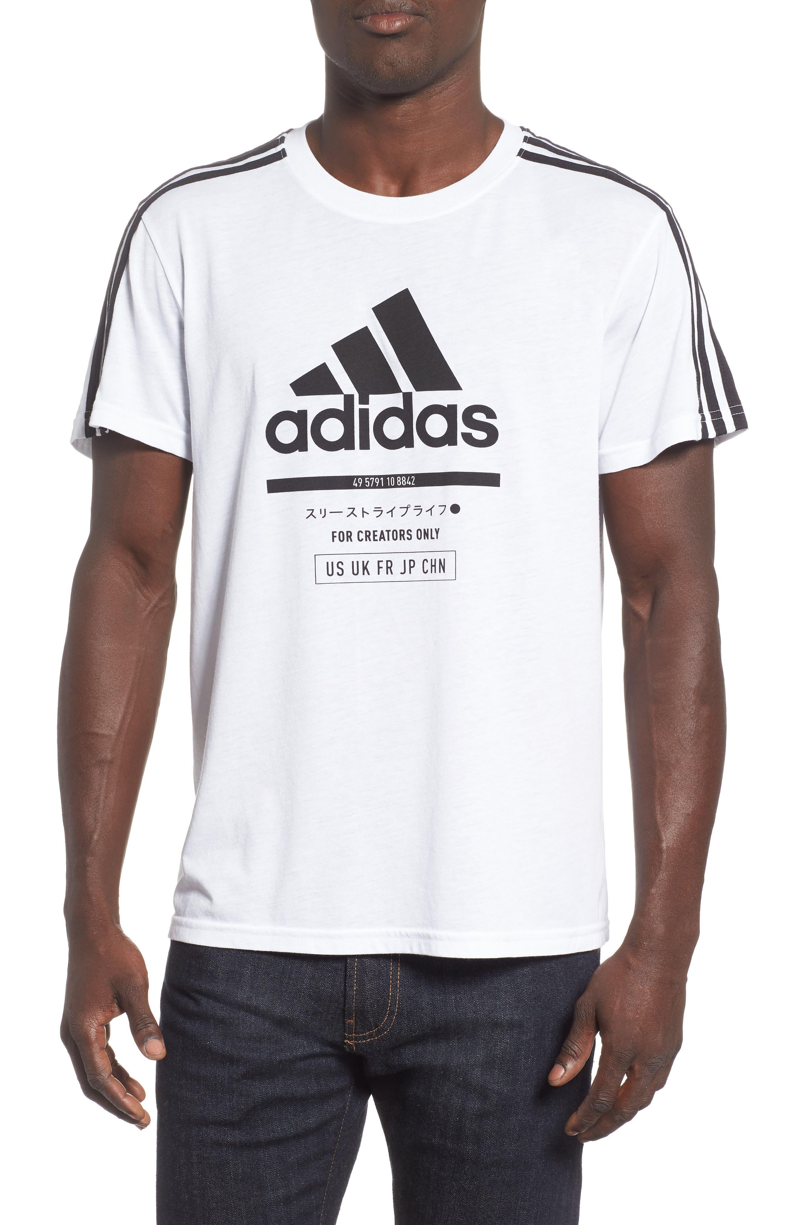 Adidas Classic International Regular Fit T-Shirt, White