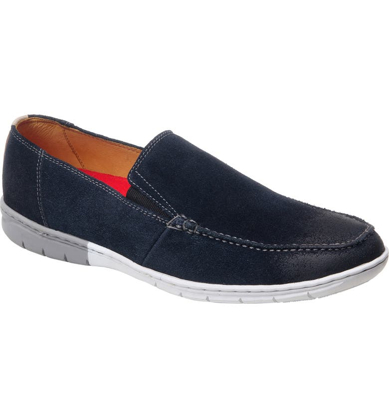 SANDRO MOSCOLONI Manson Slip-On, Main, color, NAVY SUEDE