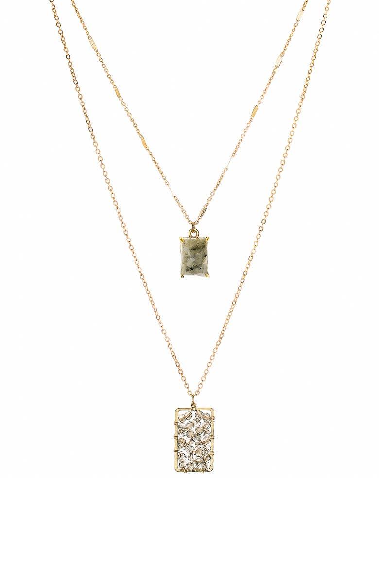 PANACEA Layered Pendant Necklace, Main, color, 710