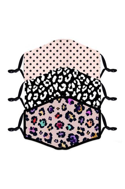 Image of FASHION MASKS Reusable Fashion Adult Face Mask - Pack of 3 - Animal & Polka Dots