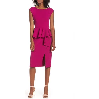 Harper Rose Peplum Sheath Dress, Pink