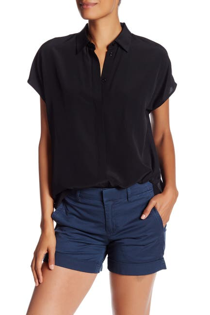 Image of Vince Silk Collared Shirt