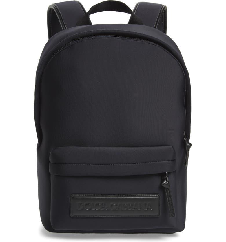 DOLCE&GABBANA Zaino Neoprene Backpack, Main, color, 002