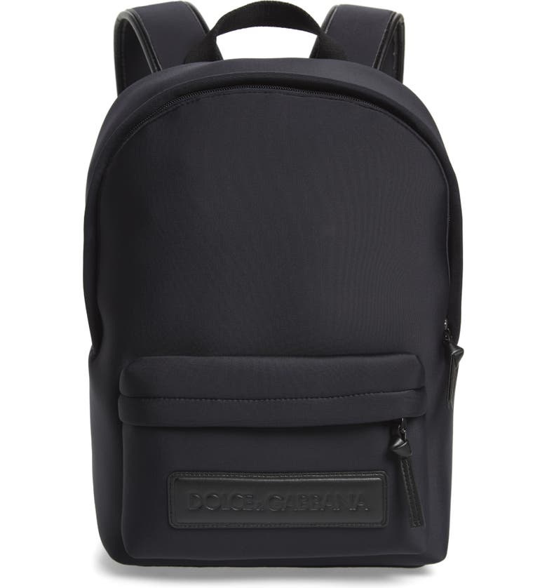DOLCE&GABBANA Zaino Neoprene Backpack, Main, color, NERO