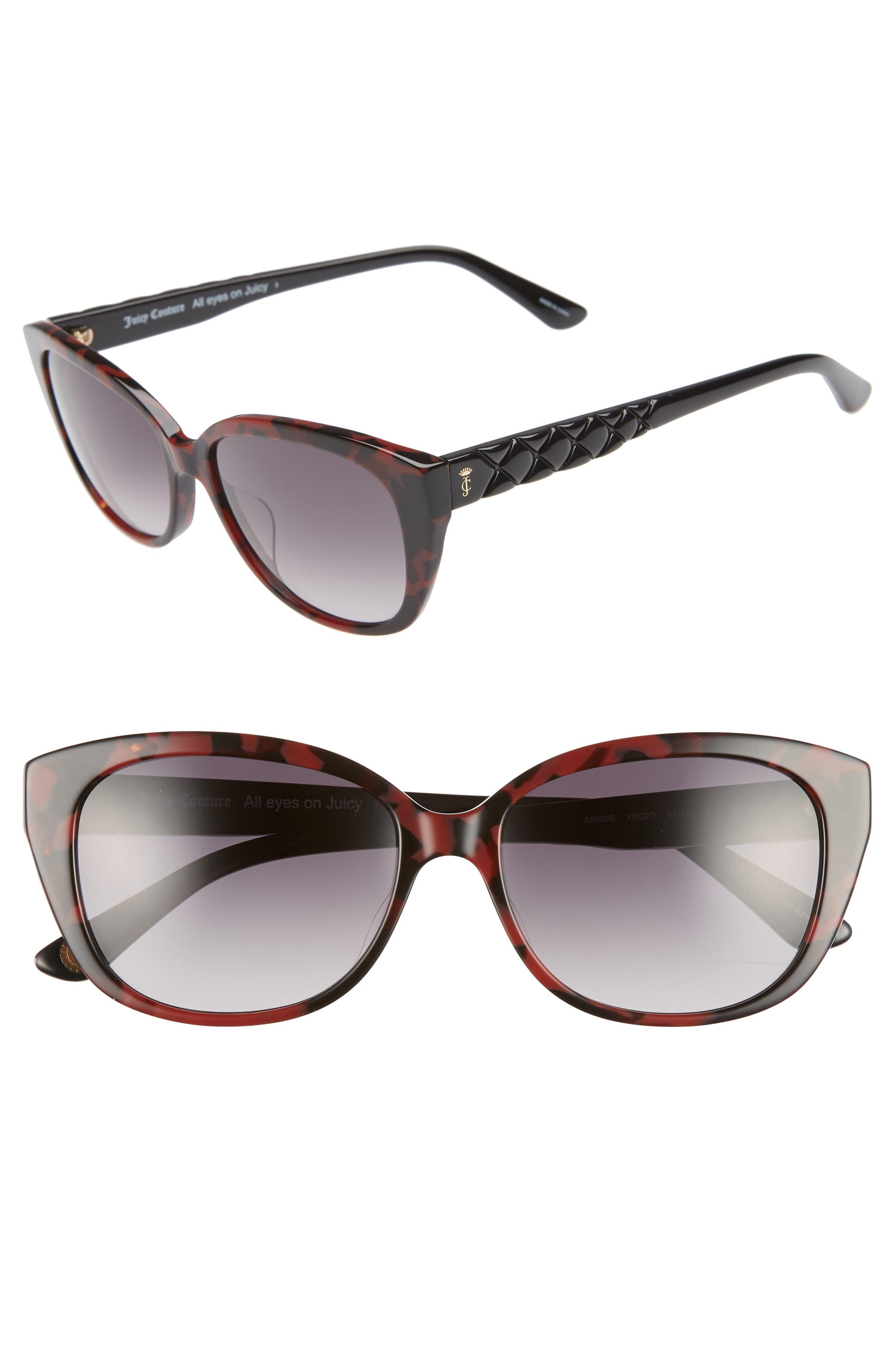 54mm Cat Eye Sunglasses, Main, color, DARK HAVANA