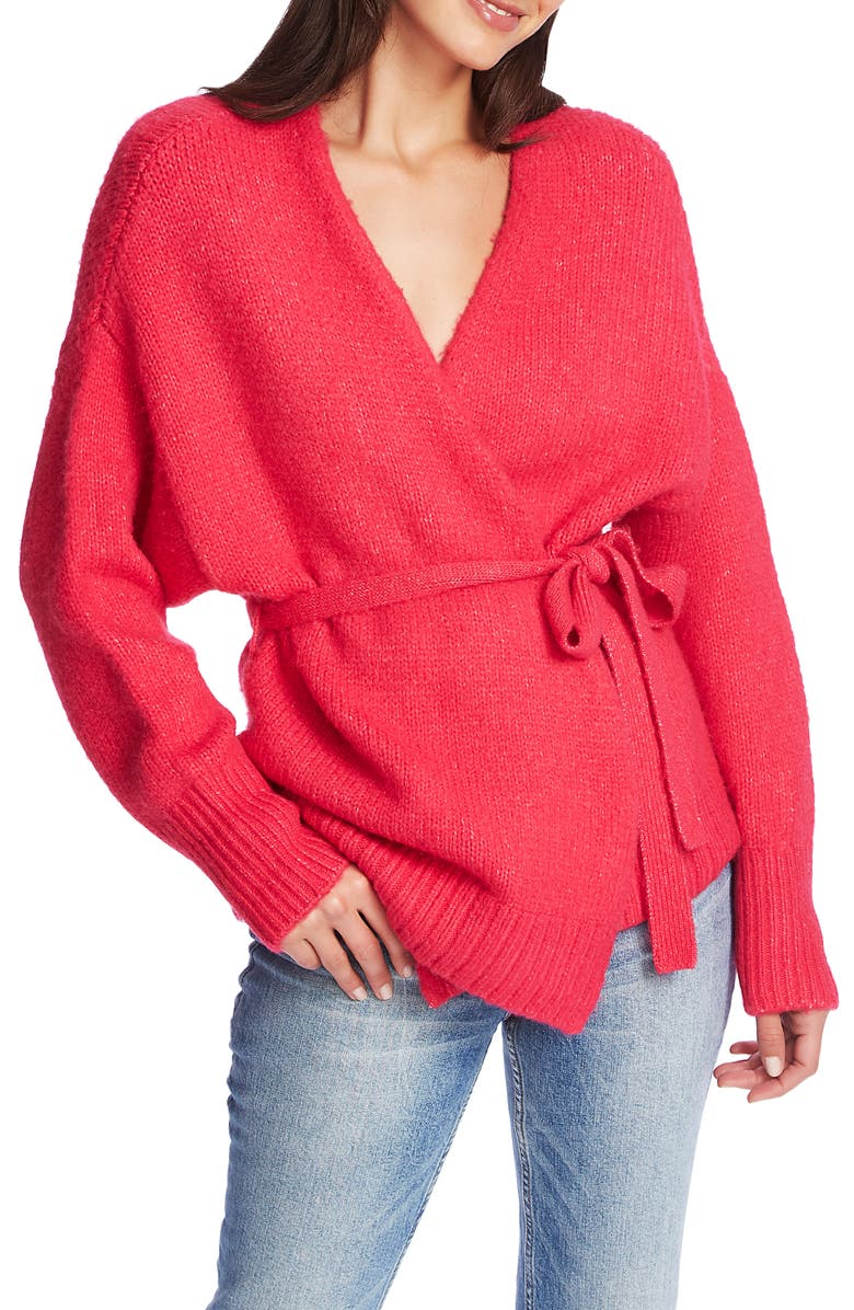 1.STATE Belted Cardigan, Main, color, RAPTURE PINK